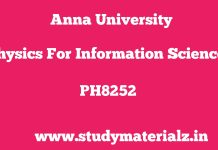 PH8252 Physics for Information Science