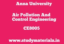 CE8005 Air Pollution and Control Engineering