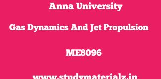 ME8096 Gas Dynamics and Jet Propulsion