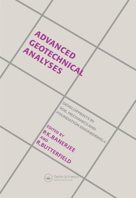 Advanced Geotechnical Analyses By P.K.Benerjee and R.Butterfield Book