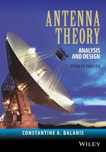 Antenna Theory: Analysis and Design By Constantine A. Balanis