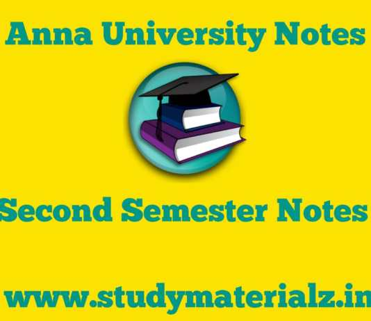 Second Semester Notes
