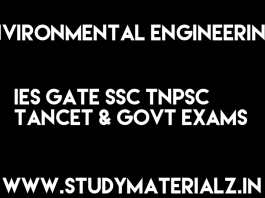 Environmental Engineering Handwritten Classroom Notes for IES GATE SSC TNPSC TANCET & GOVT Exams Free Download