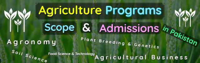 All Agriculture Programs Scope Admissions & Universities in Pakistan