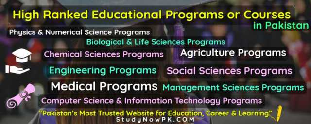 High Ranked Educational Programs or Courses in Pakistan cover