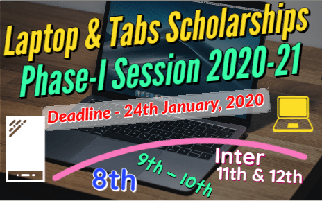 Laptop Tabs Scholarships for 8th - 9th - 10th & FA - FSc Students Phase 1 fi