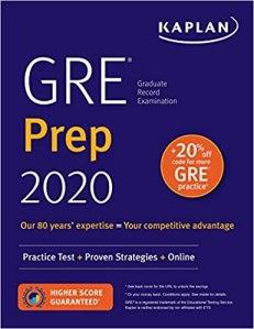 GRE Prep 2020, from Kaplan