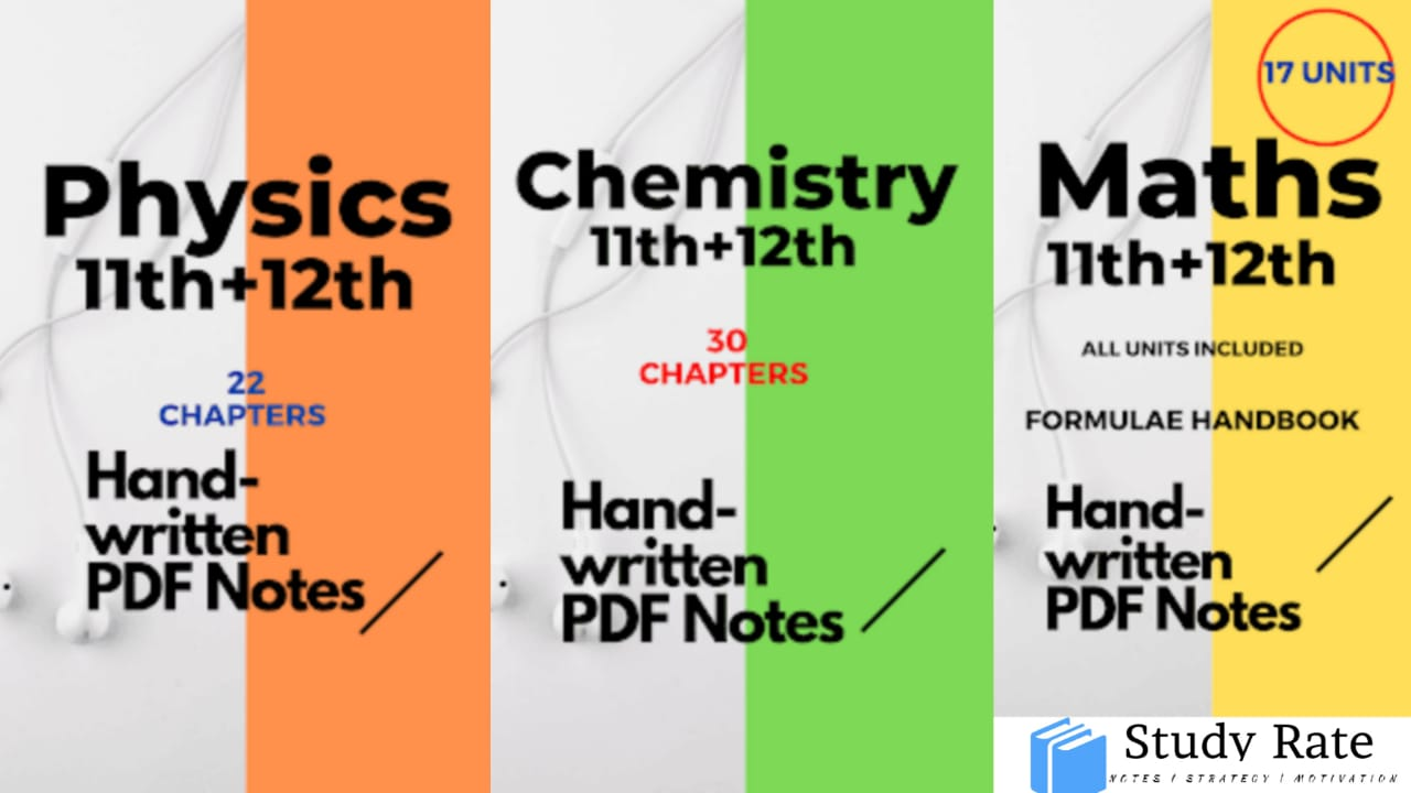 PCM Handwritten Notes PDF Download for JEE Main