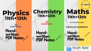 IIT-JEE Handwritten Notes PDF for JEE Main 2022   Download PDF
