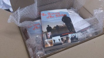 A box full of my book! Photo by Cornelia Kaufmann