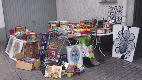 My Zöppkesmarkt / garage sale stall. Photo by Cornelia Kaufmann