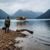 Floatplane on a lake, Pacific North West, USA. Photo by Chris Burkard