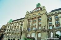 The front of the Gellért Hotel & Thermal Baths. Copyright Cornelia Kaufmann
