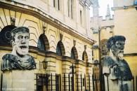 Busts outside the Sheldonian Theatre. Copyright Cornelia Kaufmann