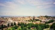 The view from Edinburgh Castle across Princes Street Gardens and New Town. Copyright Cornelia Kaufmann