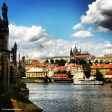 Vltava river, Charles Bridge and Castle Hill with the sires of St Vitus Cathedral. Copyright Cornelia Kaufmann
