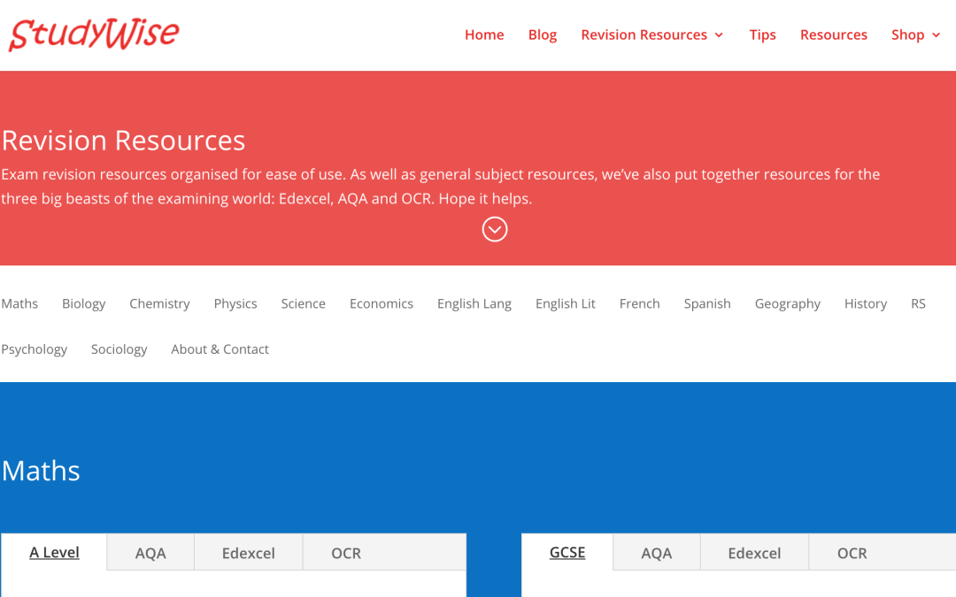 Revision resources. In one place.
