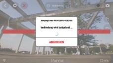 Verbindung per WLAN mit der App FreeFlight 3