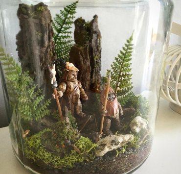 Ewoks im Glas