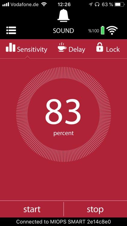 MIOPS Smart App Einstellungen