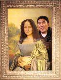 Photobombing Mona Lisa at Madame Tussaud's Amsterdam