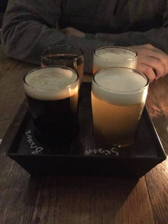 Delicious beer flight!