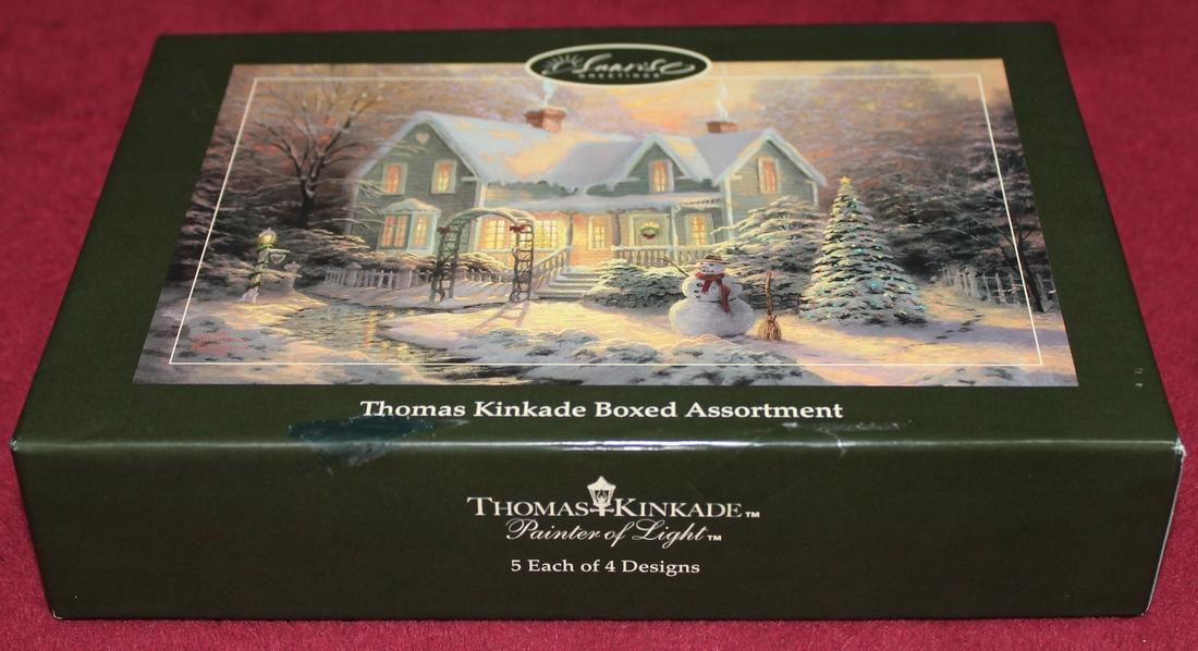 Thomas Kinkade Boxed Assortment 20 Christmas Cards