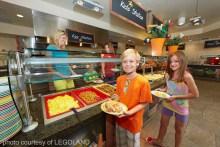 Kid-height buffet at Bricks Restaurant