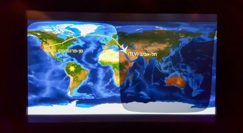 Flight map SFO to TLV