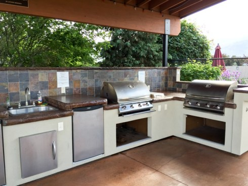 Gas grills for a family cookout