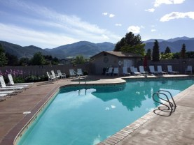 The pool at the Mountain View Lodge in Manson, WA near Lake Chelan