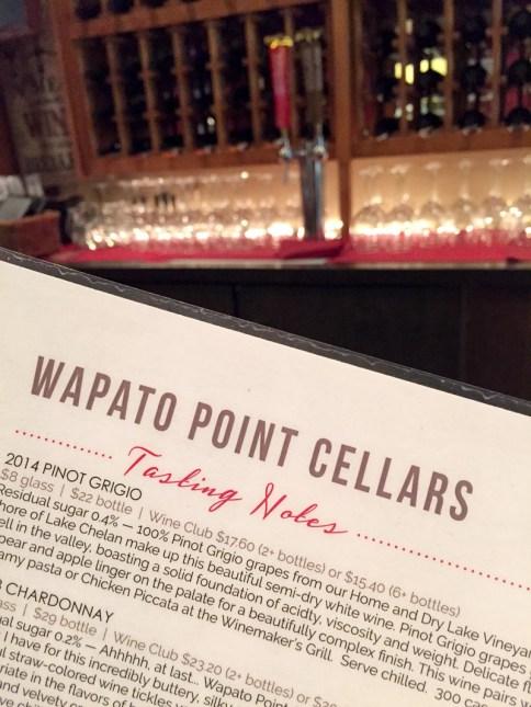 Wapato Point Cellars wine tastings
