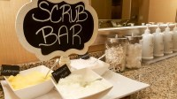 Amenities in the Gaylord Texan Spa - including their specialty sugar scrubs
