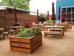 Great outdoor beer garden at the Grapevine Craft Brewery