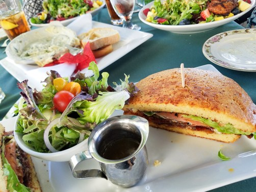 Delicious salads and sandwiches during lunch