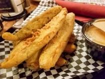 Fried pickles - yum!