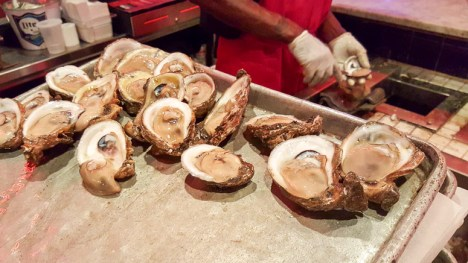 Oyster shucking at Acme Oyster House in Metairie, LA