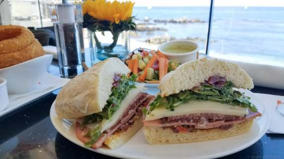 Famous Italian Sandwich at Lalla Oceanside Grill in Cannery Row Monterey Bay, CA