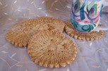 natural fiber flower coasters