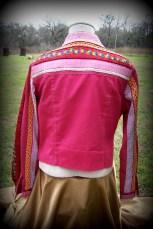 button up jacket, multi patter/muliti fabric,