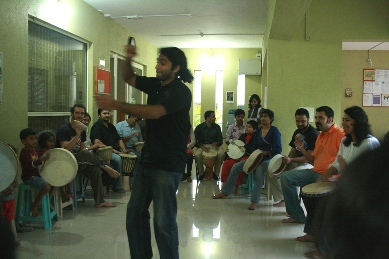 Varun leads a beat