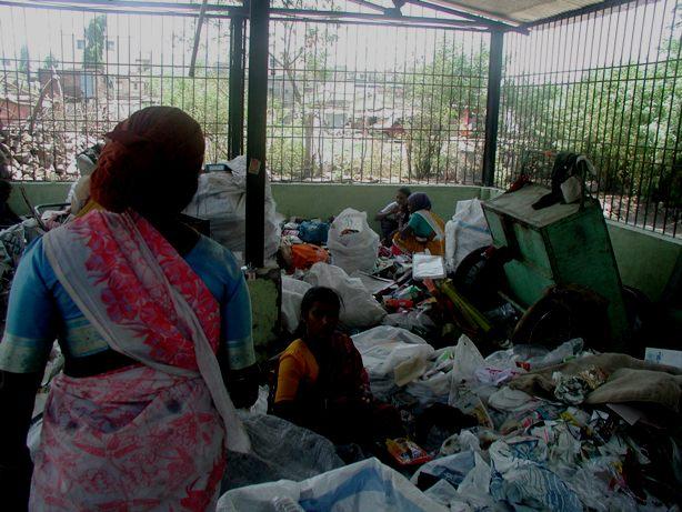 Sorting shed at Hadapsar