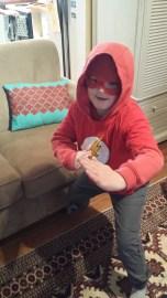 """The Flash"" masked hoodie"