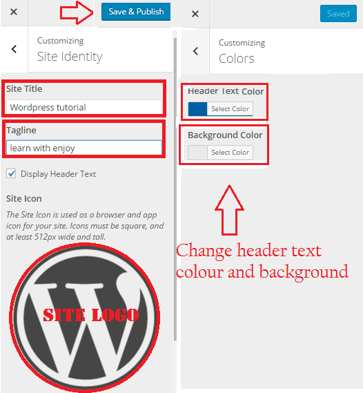 wordpress customization page