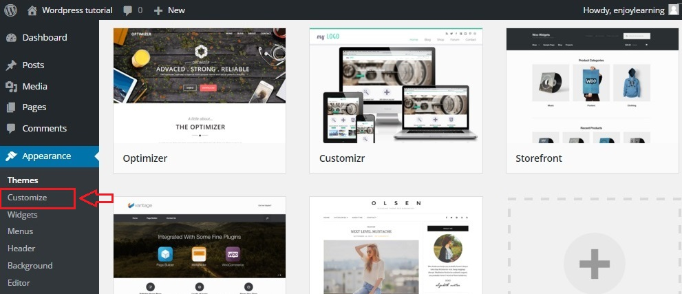 wordpress theme customize