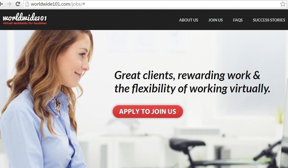 worldwide101 virtual asistance job online