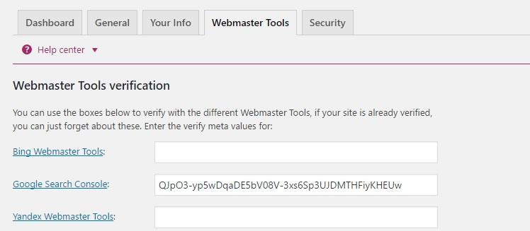 yoast-webmaster-tool