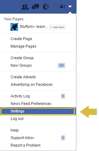 facebook-setting-option