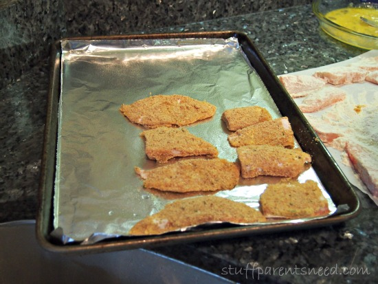 fish sticks with aluminum foil