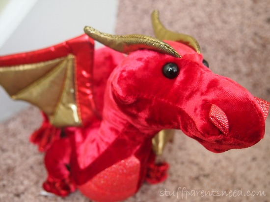 Darco the red dragon stuffed animal from Douglas Toys